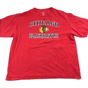 Chicago Blackhawks Majestic Red Short Sleeve Graph